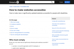 ontario accessibility website