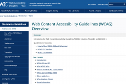 w3c wcag overview
